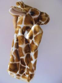 pluche hand pop giraf 27 cm prijs per stuk