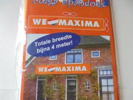 mega spandoek We lov Maxima afm 360 x 60 cm prijs per stuk