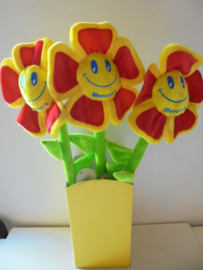 pluche bloem diselo flor 60 cm prijs per stuk