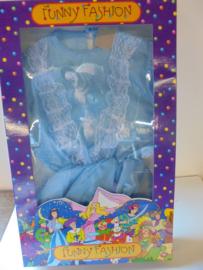 Funny Fashion prinsessen jurk blauw prijs per stuk