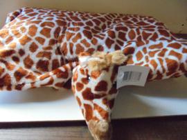 pluche kinder knuffel speel kussen giraf afm 65x55 cm prijs per stuk