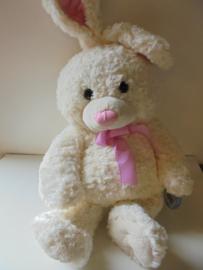 pluche Kie konijn wit 60 cm prijs per stuk