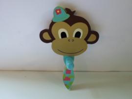 Kinder kapstok aap met das 13 x 20 cm prijs per stuk