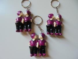 sleutelhanger kus popjes 5 cm prijs per 12 stuks