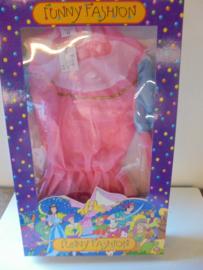 Funny Fashion prinsessen jurk roze prijs per stuk