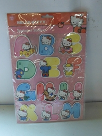 Hello Kitty Alphabet Stickers groot prijs per set
