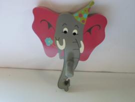 kinder kapstok olifant 13 x 20 cm prijs per stuk