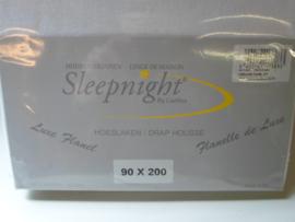 Sleepnight Hoeslaken 90x200 Flanel 100% katoen prijs per stuk