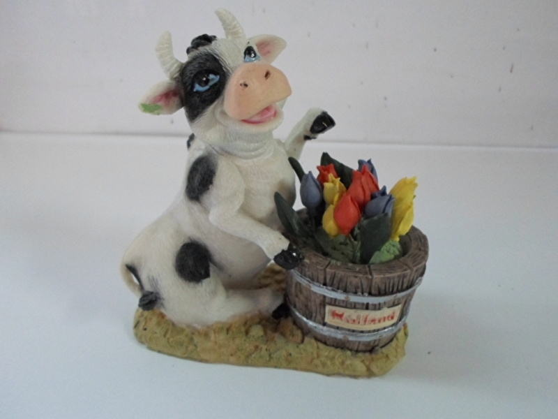Koe holland staand met opdruk holland en tulpen prijs per stuk