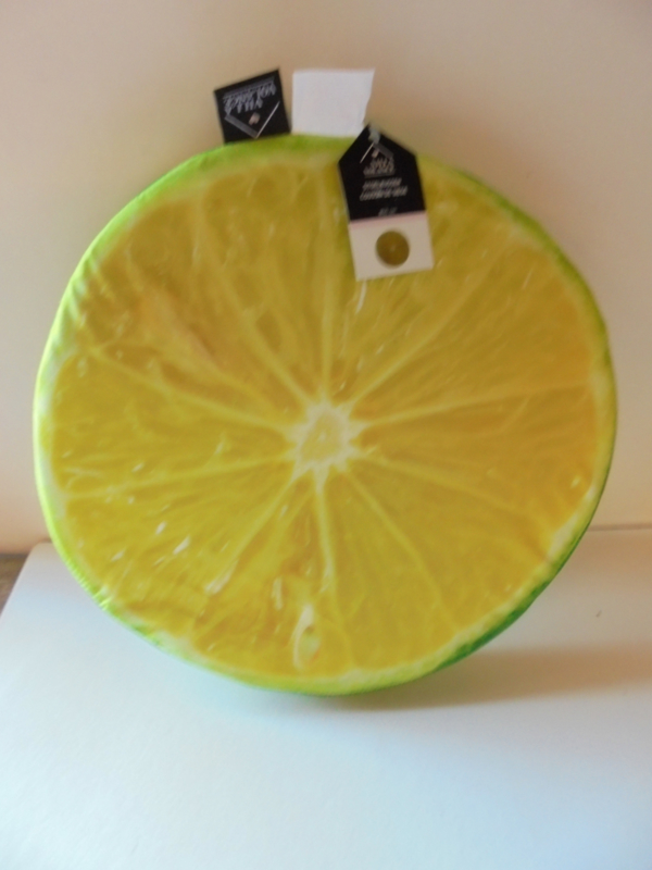 stoel kussen citroen 40 cm prijs per stuk