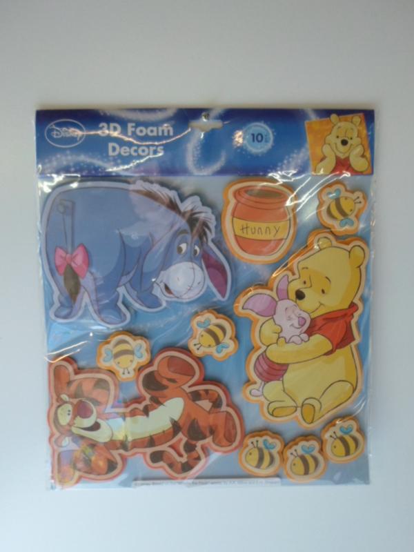 Disney Winnie the pooh 3d Foam Levels Stickers prijs per stuk