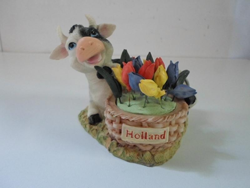 koe holland liggend met opdruk holland en tulpen prijs per stuk
