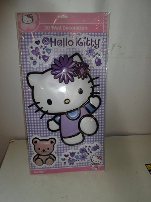 Hello Kitty 3d Wall Decoration groot prijs per stuk