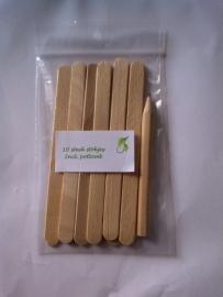 Steekstokjes met potlood