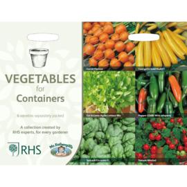 Collectie groente voor in potten