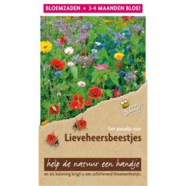 Bloemen mengsel lieveheersbeestjes