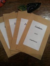 Papieren bewaarzakje met etiket
