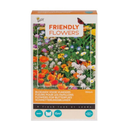 Friendly Flowers Vlinders Laag 15m²