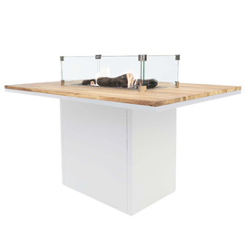 Cosiloft 120 High Dining Table White/Teak