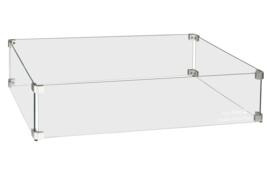 Easyfires Glazen Ombouw rectangle groot (rechthoek groot) 78x40 cm