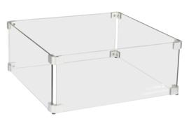 Easyfires Glazen Ombouw vierkant 43x43 cm