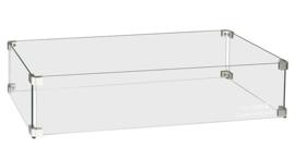 Easyfires Glazen Ombouw rectangle (rechthoek) 78x30 cm RVS