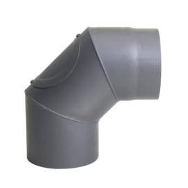 Kachelpijp Bocht 90 graden D150mm Zwart