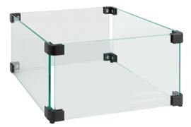 Easyfires Glazen Ombouw vierkant 34x34 cm zwart