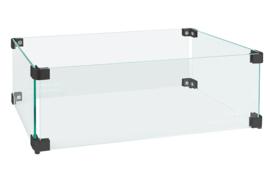 Easyfires Glazen Ombouw rechthoekig 54x29 cm zwart