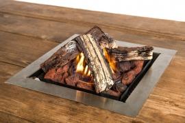Happy Cocooning vuurtafel inbouwbrander vierkant