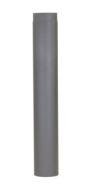 Rechte Kachelpijp D150mm / 1000mm Zwart