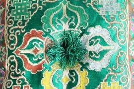 Klankschaal kussen royaal groen