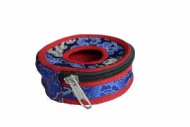 Tingsha hoesje groot - Blauw en rood