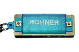 Kleine Hohner mondharmonica - Blauw kunststof