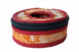 Tingsha hoesje middelgroot - Oranje en rood
