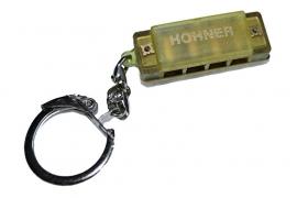 Kleine Hohner mondharmonica - Geel kunststof