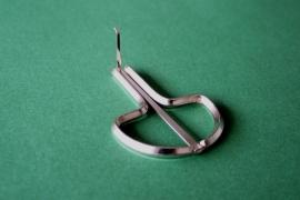 Oostenrijkse mondharp middel zilver