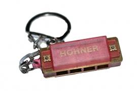 Kleine Hohner mondharmonica - Rood kunststof