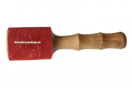 Wrijfstok met rood suede - middelgroot