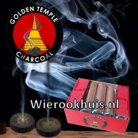 Houtskool tabletten Golden Temple - 33 mm - rol 10 stuks