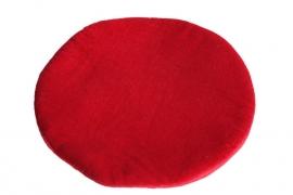 Fluweel rood klankschaal kussen - groot