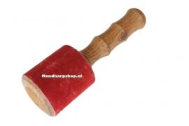 Wrijfstok met rood suede - groot