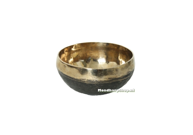 Klankschaal zwart en goud - 250 tot 300 gram