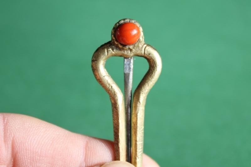 Koraal (bloedkoraal of turqoise), messing tand mondharp