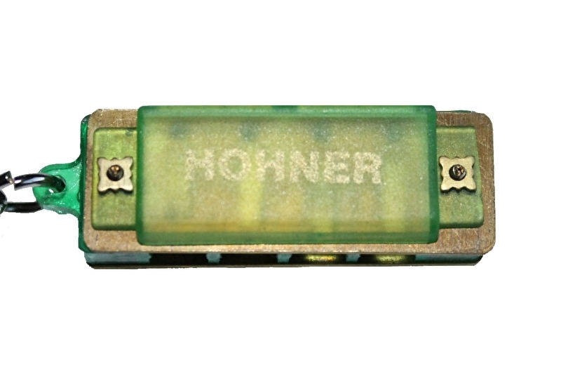 Kleine Hohner mondharmonica - Groen kunststof