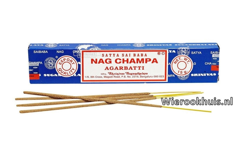 Nag Champa Agarbatti - 15 gram wierook stokjes