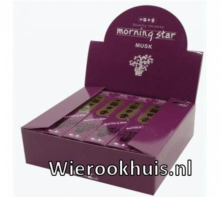 Morning Star Wierook - Musk - 50 stokjes