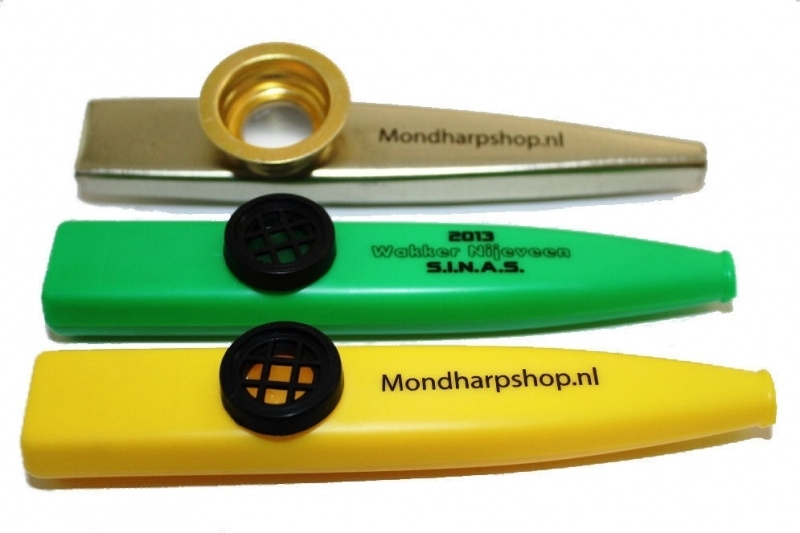 Bedrukte kazoo's met logo of bedrijfsnaam