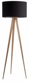 Zuiver Tripod Wood Vloerlamp Zwart