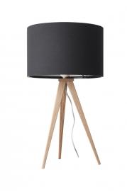 Zuiver Tripod Wood Tafellamp Zwart